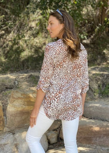 Spicy Sugar - Cougar Johnny Collar Blouse