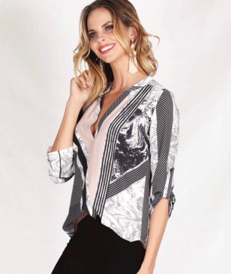 Spicy Sugar - Marble Mayhem Blouse - Dilux Designs