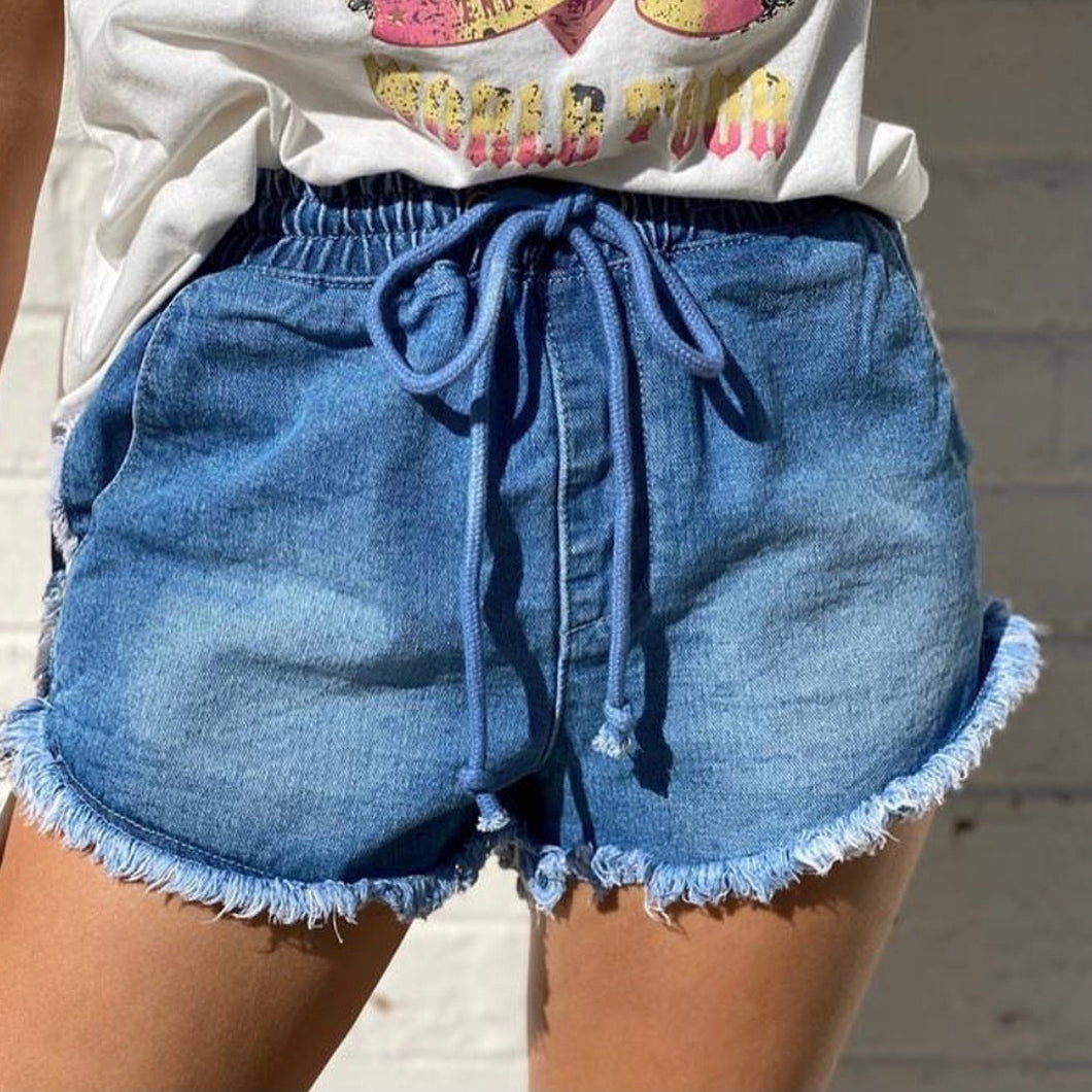 Country Denim - Fray Jogger Style Shorts
