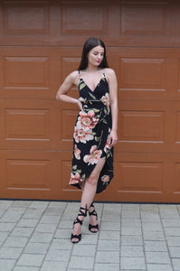 Blossom - Giselle Floral Midi Dress - Dilux Designs
