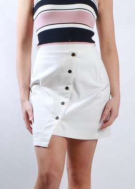 Spicy Sugar - Asymmetrical Stud Front Mini Skirt