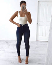 Wakee - Izzy High Waisted Blue Denim Jeans