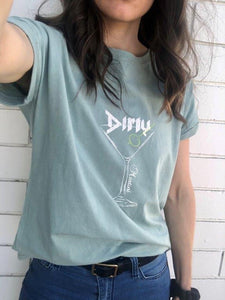 Refuge - Dirty Martini Acid Wash Tee