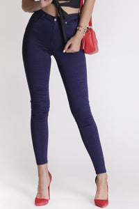 Refuge - Onyx High Waist Gelato Legs - Navy