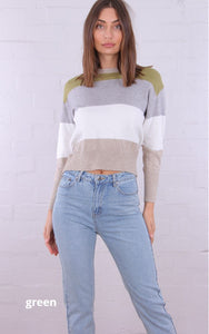 Rosebullet - Colour Block Knit Jumper