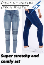 Wakee - High Waisted Pull On Jegging Style Jeans