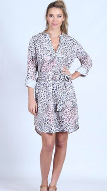 Spicy Sugar - Snow Leopard Shirt Dress