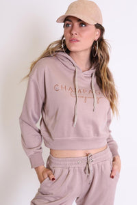 Refuge - Champagne Campaign Cropped Hoodie
