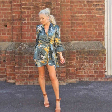 Blossom - Elora Mini Wrap Dress