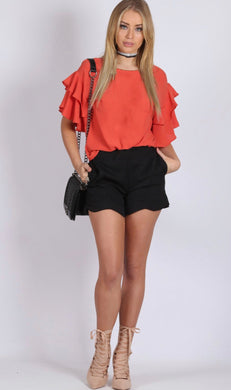 Spicy Sugar - Double Ruffle Top