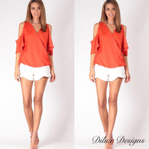 Spicy Sugar - Lily Scoop Tailored Shorts - Dilux Designs