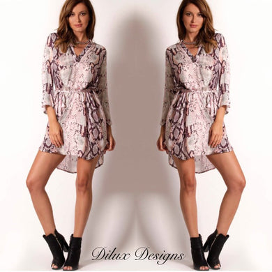 Spicy Sugar - Viper Shirt Dress - Dilux Designs