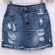 Wakee - Distressed Denim Skirt - Dilux Designs