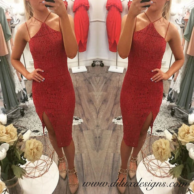 Blossom- Luna Red Lace Dress - Dilux Designs