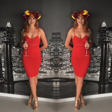 Slide Show - Montana Red Dress - Dilux Designs
