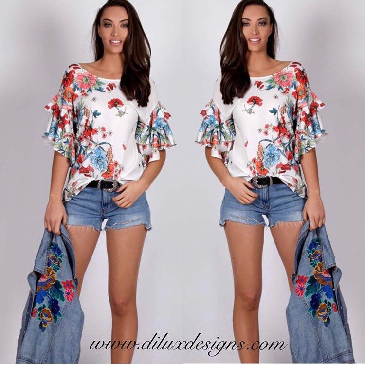 Spicy Sugar - Luana Floral Blouse - Dilux Designs
