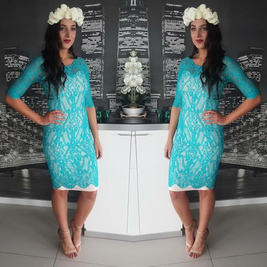 Mei Mei - Tiffany Lace Midi Dress - Dilux Designs