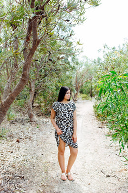 Spicy Sugar - Simba Leopard Print Shift Dress - Dilux Designs
