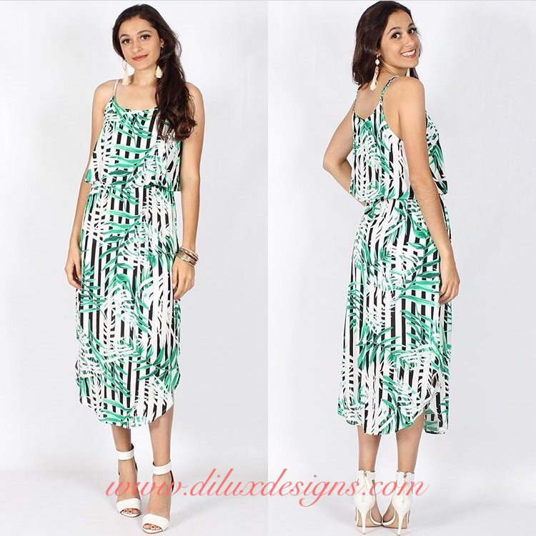 Spicy Sugar - Bamboo Princess Midi Dress - Dilux Designs