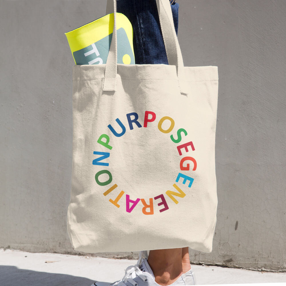 Purpose Generation United Nations Sustainable Development Goals Cotton Tote Bag