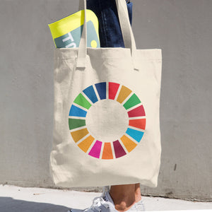 United Nations Sustainable Development Goals Logo Cotton Tote Bag