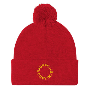 Purpose Generation Pom Pom Knit Cap
