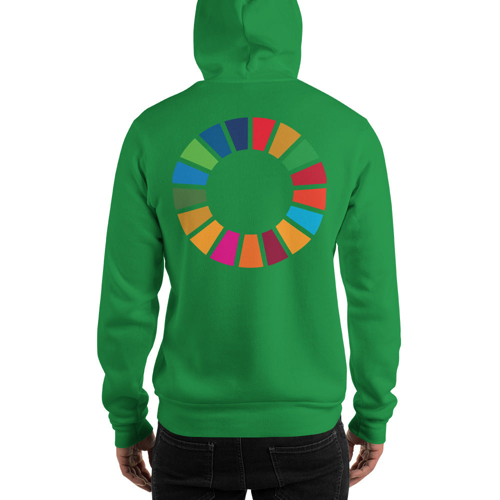 Purpose Generation United Nations Sustainable Development Goals Hooded Sweatshirt Men's (Print)
