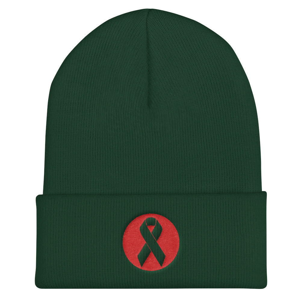 Beat  Cancer Cuffed Beanie