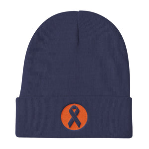 Beat Cancer Knit Beanie
