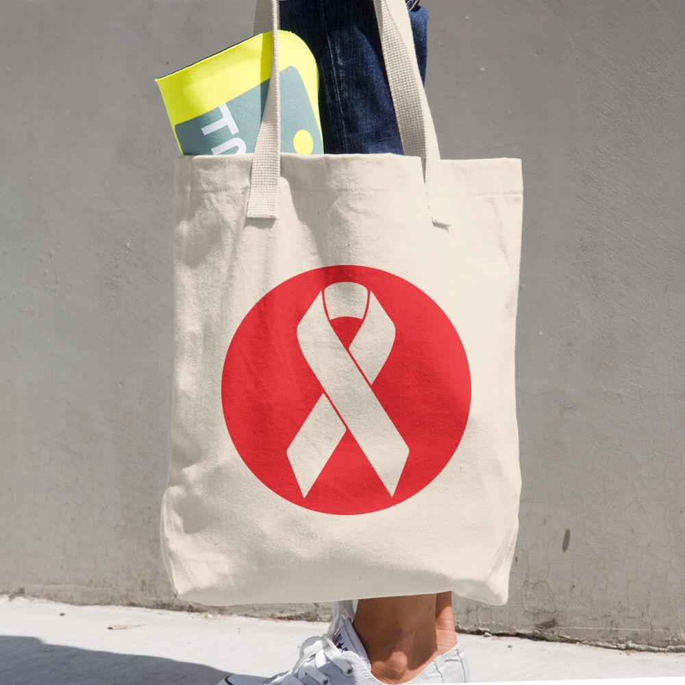 Beat Cancer Logo Cotton Tote Bag