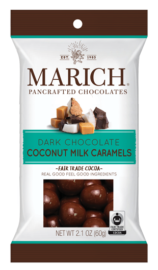 Single-serve Dark Chocolate Coconut Milk Caramels (SS#2789)