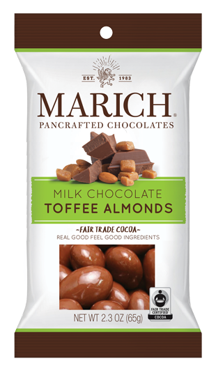 Single-serve Milk Chocolate - Toffee Almonds (SS#2880)