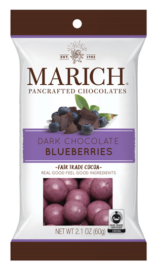Single-serve Chocolate Blueberries  (SS#2958)