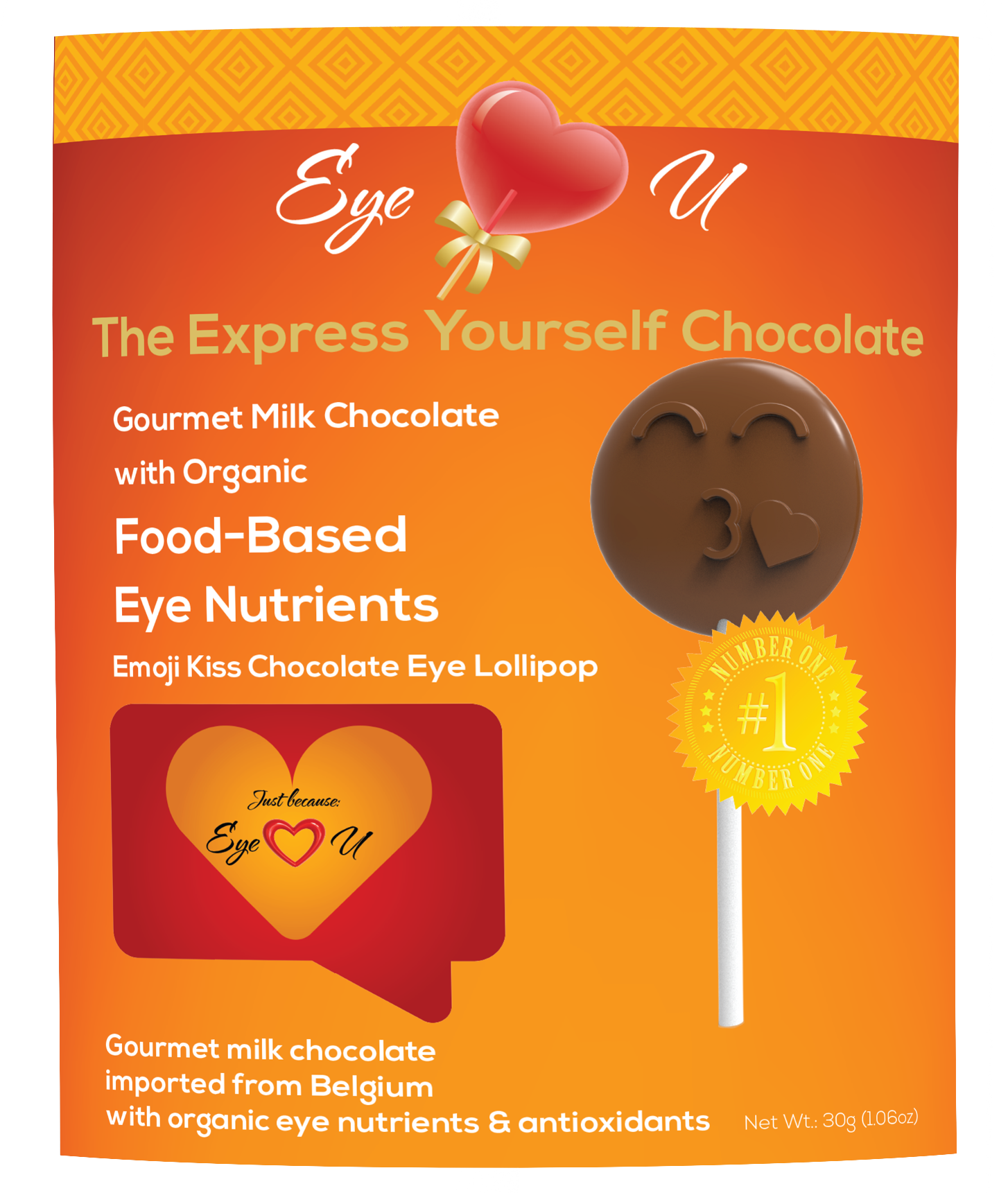 Milk Chocolate - Emoji Kiss (12 packs)