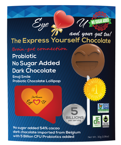 Sugar Free Probiotics Dark Chocolate - Emoji Smile (12 packs)