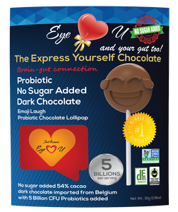Sugar Free Probiotics Dark Chocolate - Emoji Laugh (12 packs)
