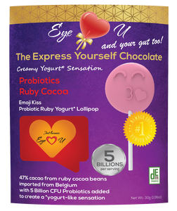 Ruby Chocolate 47.3% Cocoa Probiotics - Emoji Kiss (12 packs)