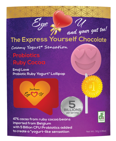 Ruby Chocolate 47.3% Cocoa Probiotics - Emoji Love (12 packs)