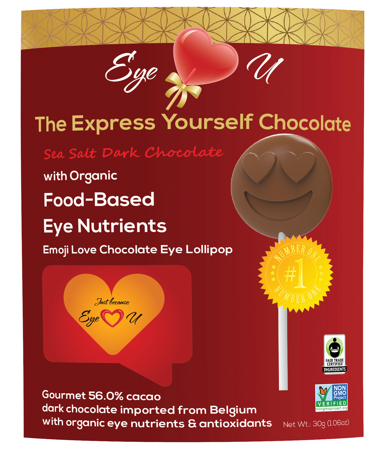 Sea Salt Dark Chocolate - Emoji Love (12 packs)