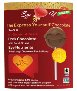Sugar Free Sea Salt Dark Chocolate -  Emoji Laugh (12 packs)