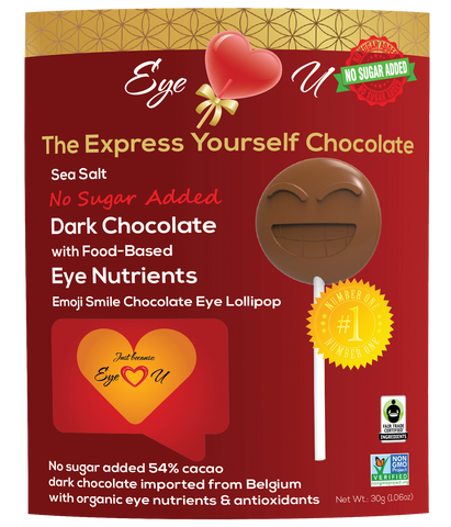 Sugar Free Sea Salt Dark Chocolate -  Emoji Smile (12 packs)