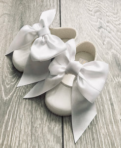White Patent Bow Shoe