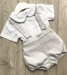 Grey Two Piece Romper Set