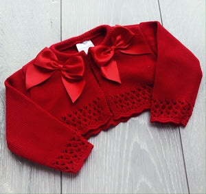 Red Double Bow Bolero