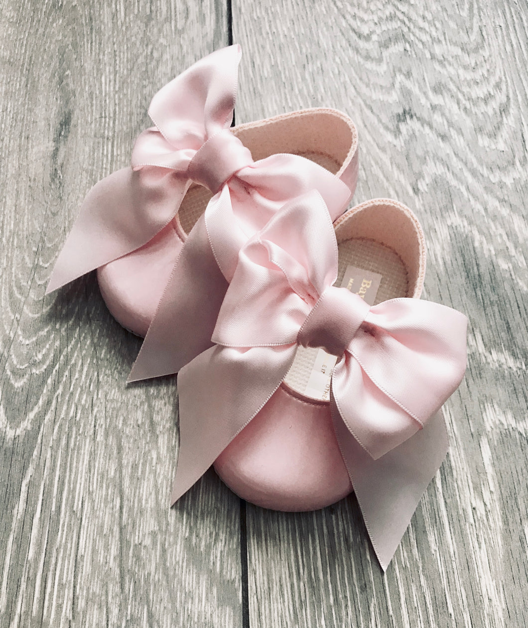 Pink Patent Bow Shoe