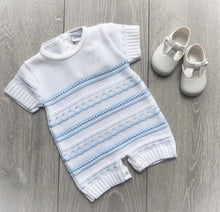 Load image into Gallery viewer, Knitted Pointelle Romper