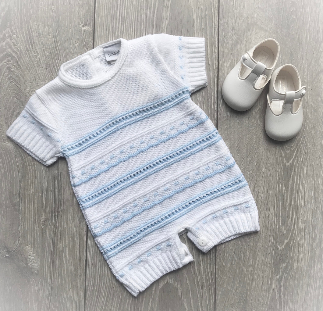 Knitted Pointelle Romper