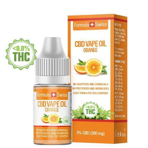 Huile de CBD à vapoter goût Orange à 3% (300 mg)