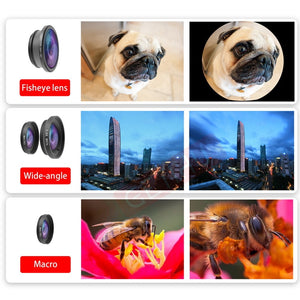 10 in 1 Kits 12x Zoom Telephoto Lens Fish eye Lens Wide Angle Macro Lenses Cell Phone Mobile Tripod - A&M Executive Services LLC