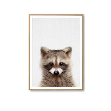 Load image into Gallery viewer, Canvas Painting Poster Rabbit Dog Deer Bear Fox Owl Prints Nursery Picture Animal Wall Art Peekaboo Kids Room Decor - A&M Executive Services LLC